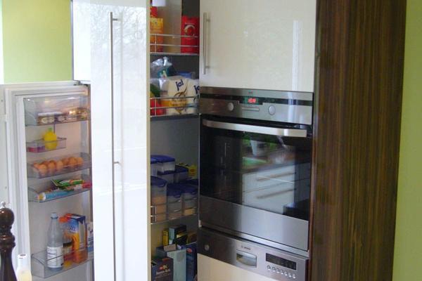 Kühlschrank und Schränke