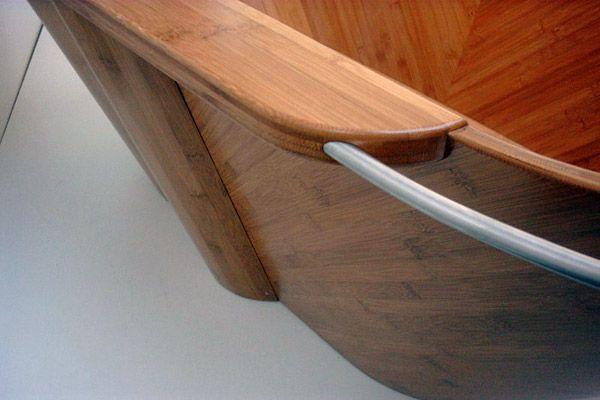 Holzbadewanne - Details