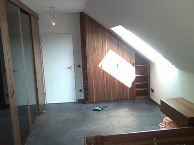 Schrank für eine Dachschräge individuell gefertigt